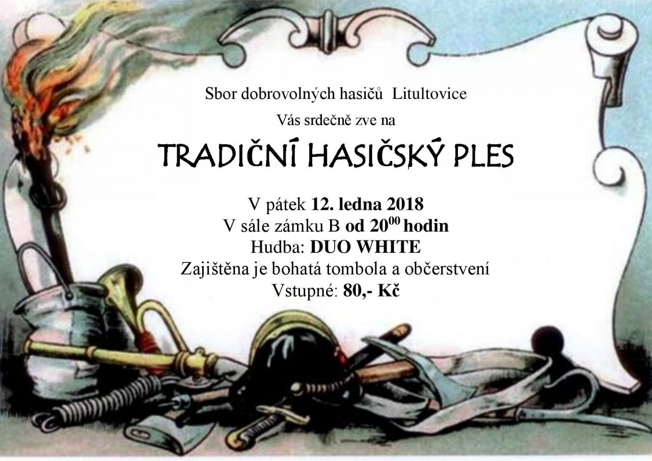 Plakát ples Hasiči