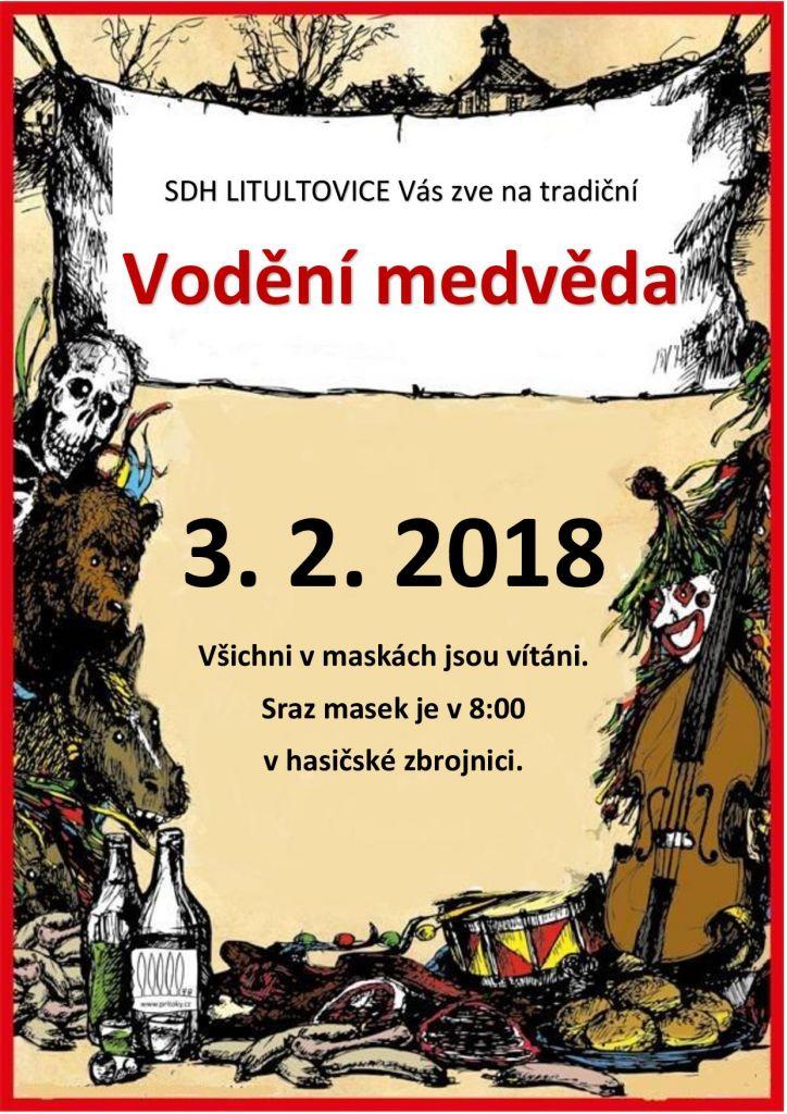 plakát Vodění medvěda