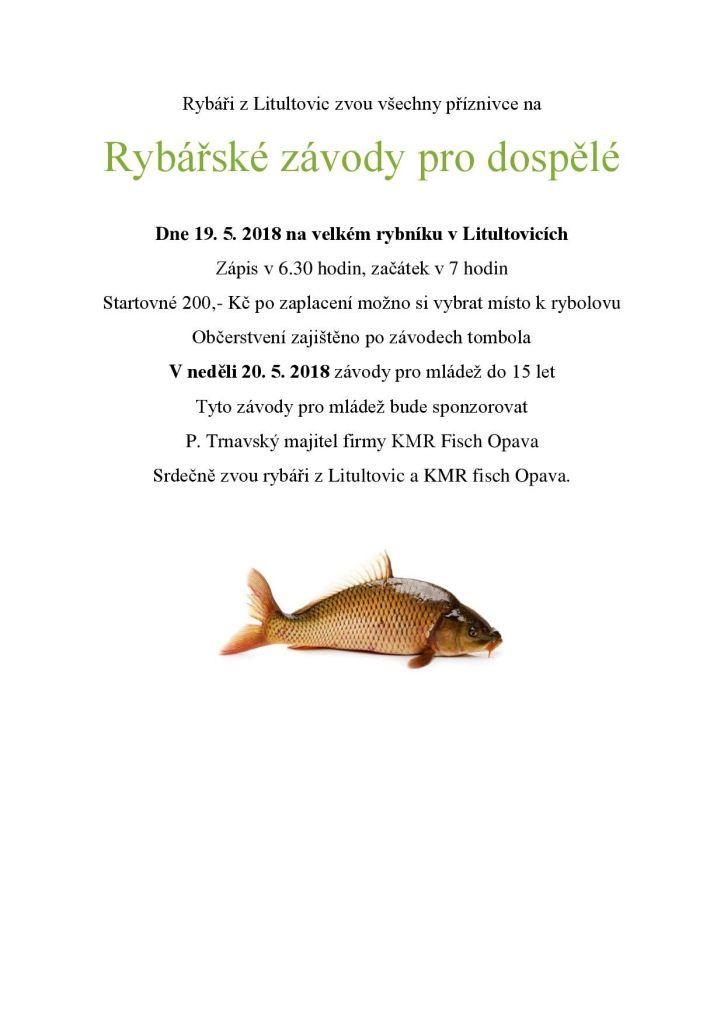 Plakát rybářské závody