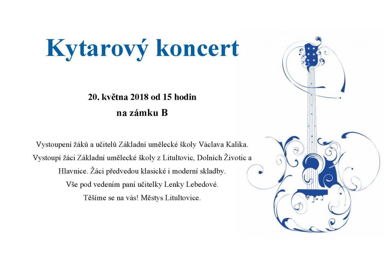 Plakát kytarový koncert