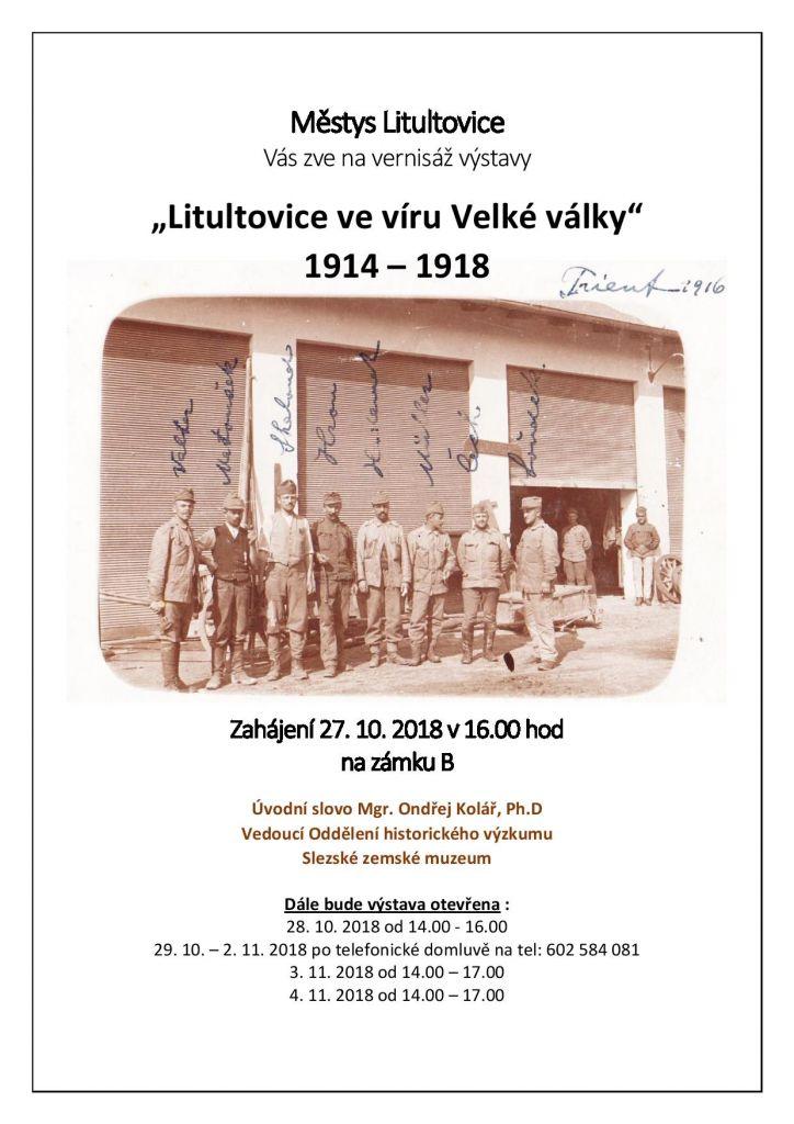 Litultovice ve víru Velké války 1914 - 1918