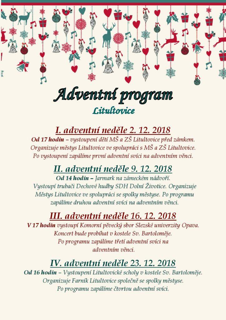 Adventní program 2018